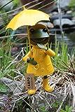 Frosch stehend gelb-grün Metall 19x6cm 1Stk
