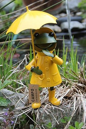 Frosch stehend gelb-gr/ün Metall 19x6cm 1Stk