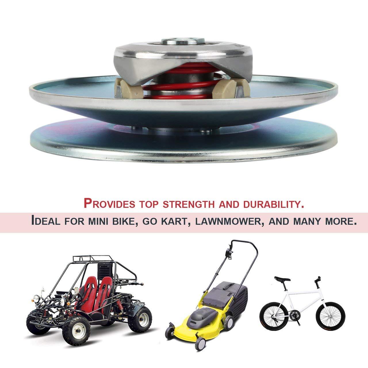 30 Series Torque Converter 5//8 Inch Inner Diameter 7 Inch Diameter Driven Mini Bike Clutch Go Kart Replacement Parts