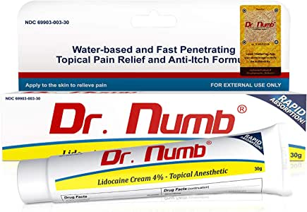 Amazon.com: Dr. Numb Topical Anesthetic Numbing Cream ...