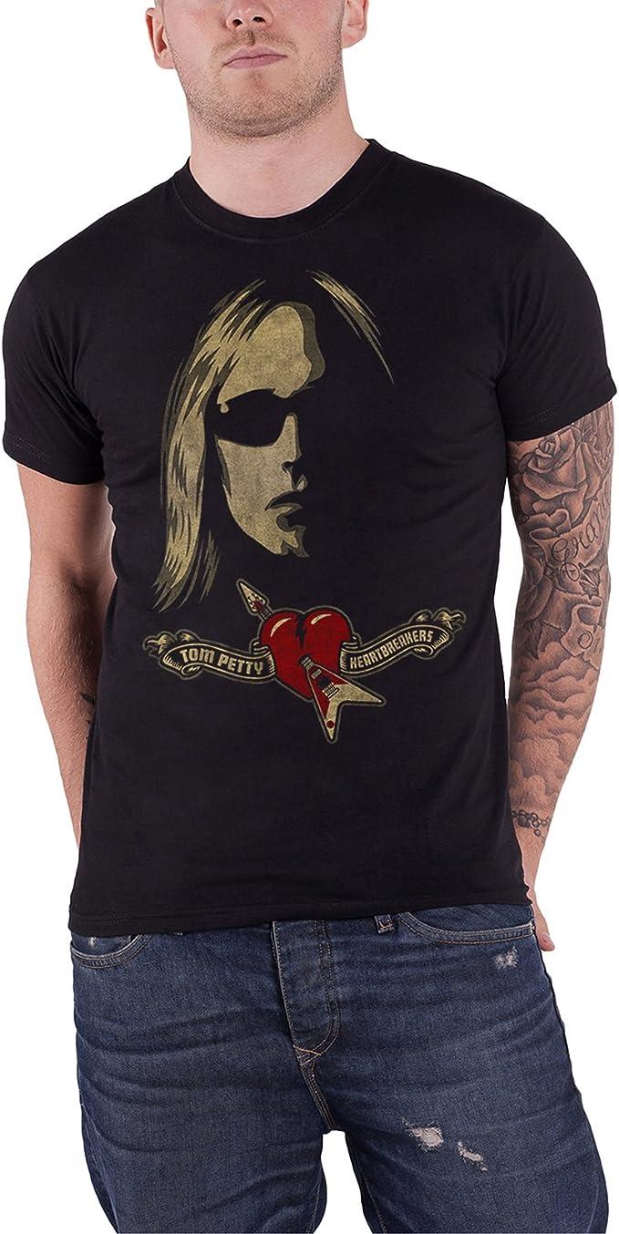 T-Shirt Black NEW Tom Petty /& The Heartbreakers /'Shades /& Logo/'