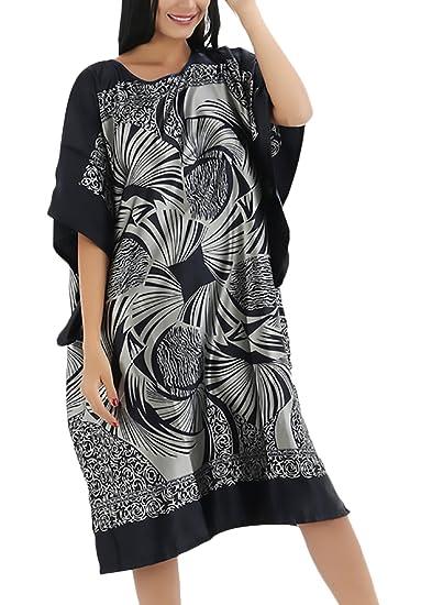 Lannister Fashion Pijama Mujer Verano Corto Camison Manga Corta Cuello Redondo Vestido Vintage Camison Sleepwear Hippies