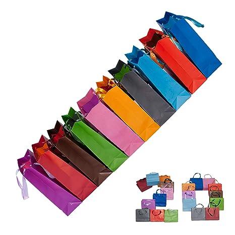 Dazoriginal Grande Bolsas para Regalo 10 Unidades 10 Colores Fiesta Bolsas de Regalos Bolsas de papel pare fiestas Bolsa de papel kraft bolsas de ...