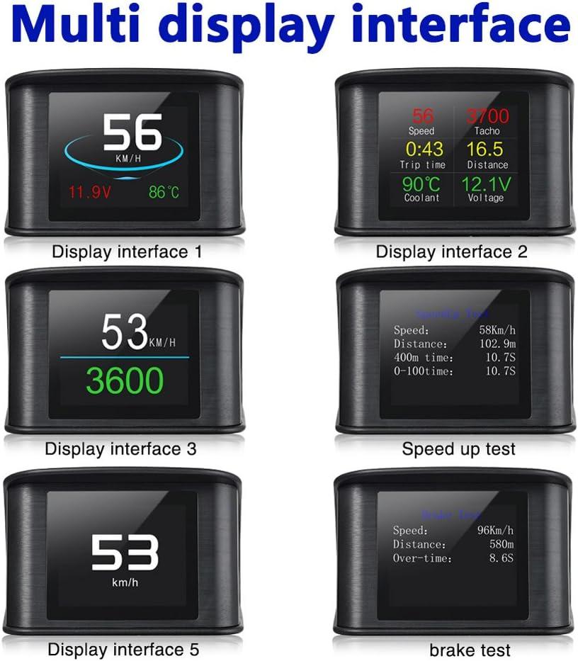 Coomir P10 Car HUD Head Up Display Smart Digital Veloc/ímetro Pantalla LCD OBD 2 Esc/áner Herramienta de diagn/óstico