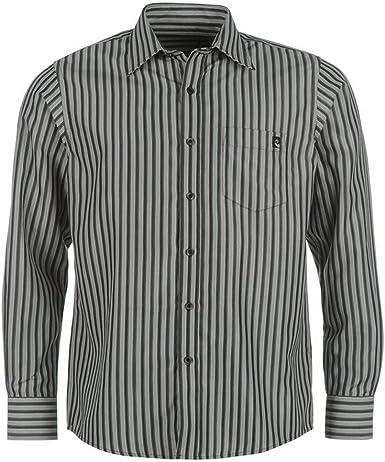 Pierre Cardin – Camisa de manga larga para hombre Negro S: Amazon.es: Ropa y accesorios