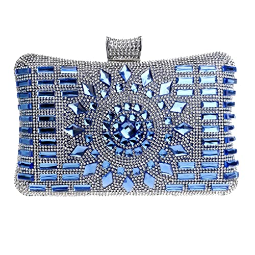 Luckywe Bolso de Mano Cristal de diamante de imitación Embrague Bolso de Noche Estilo para Mujer A46 Azul: Amazon.es: Zapatos y complementos