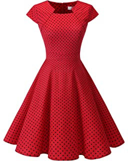DRESSTELLS® 50s 60s Retro Dress Cap Sleeve Rockabilly Floral