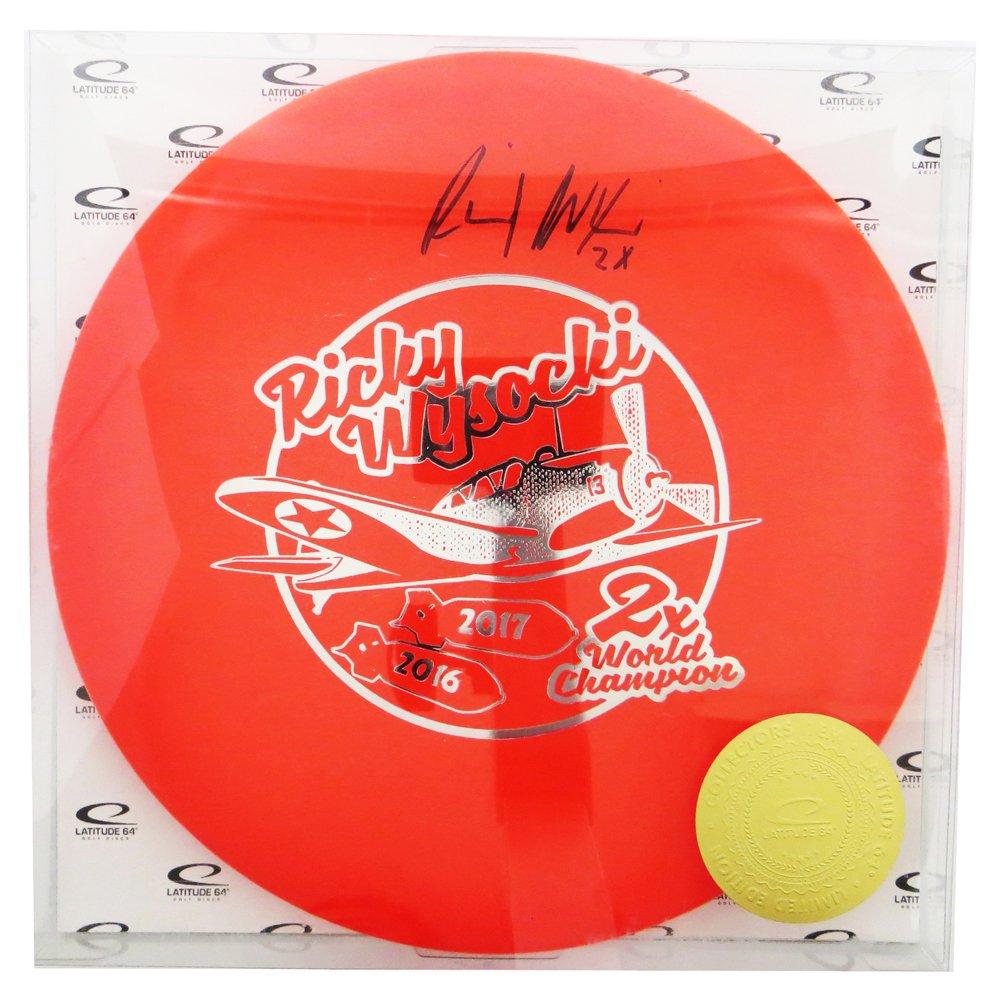 Latitude 64 Limited Edition Ricky Wysocki AutographedダブルBomber OptoラインコンパスミッドレンジGolf Disc [ Colors May Vary ] B07D85GVLQ   170-180g
