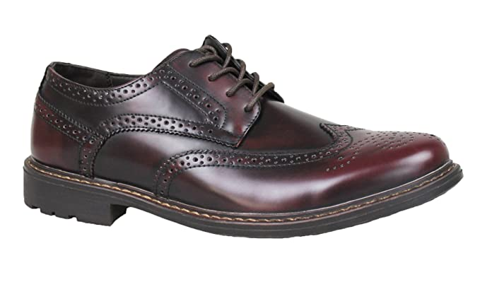 Scarpe francesine uomo class bordeaux vernice effetto lucido casual  eleganti (40) e7f6f14244c