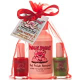 Piggy Paint [2 Color Gift Set with Remover] Non-toxic Girls Nail Polish Kit