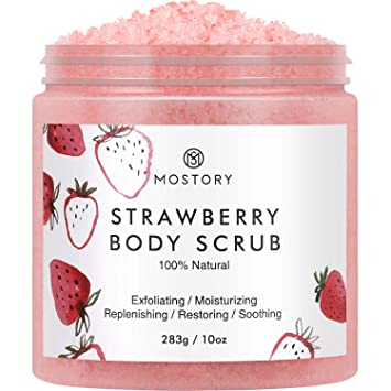Amazon Com Sweet Strawberry Exfoliating Body Scrub Organic