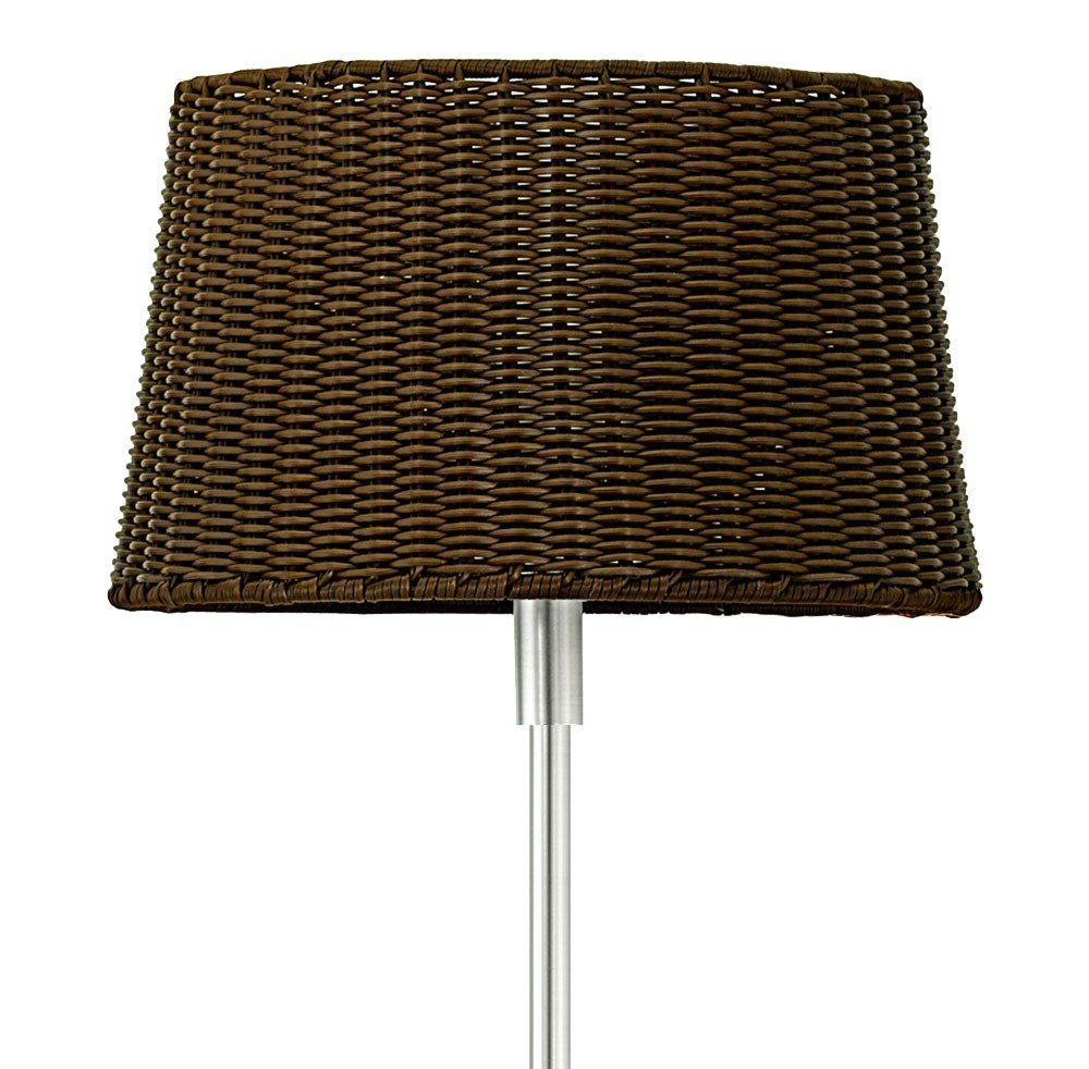 Au/ßenleuchte Steh Lampe Garten ALU Korbgeflecht Design Marmor Sockel dunkelbraun Eglo 88082