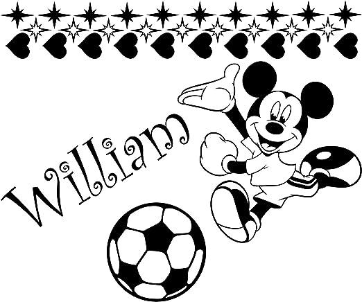 Mickey Mouse con su nombre elegido y juego de estrellas 19 y 10 corazones 60 cm