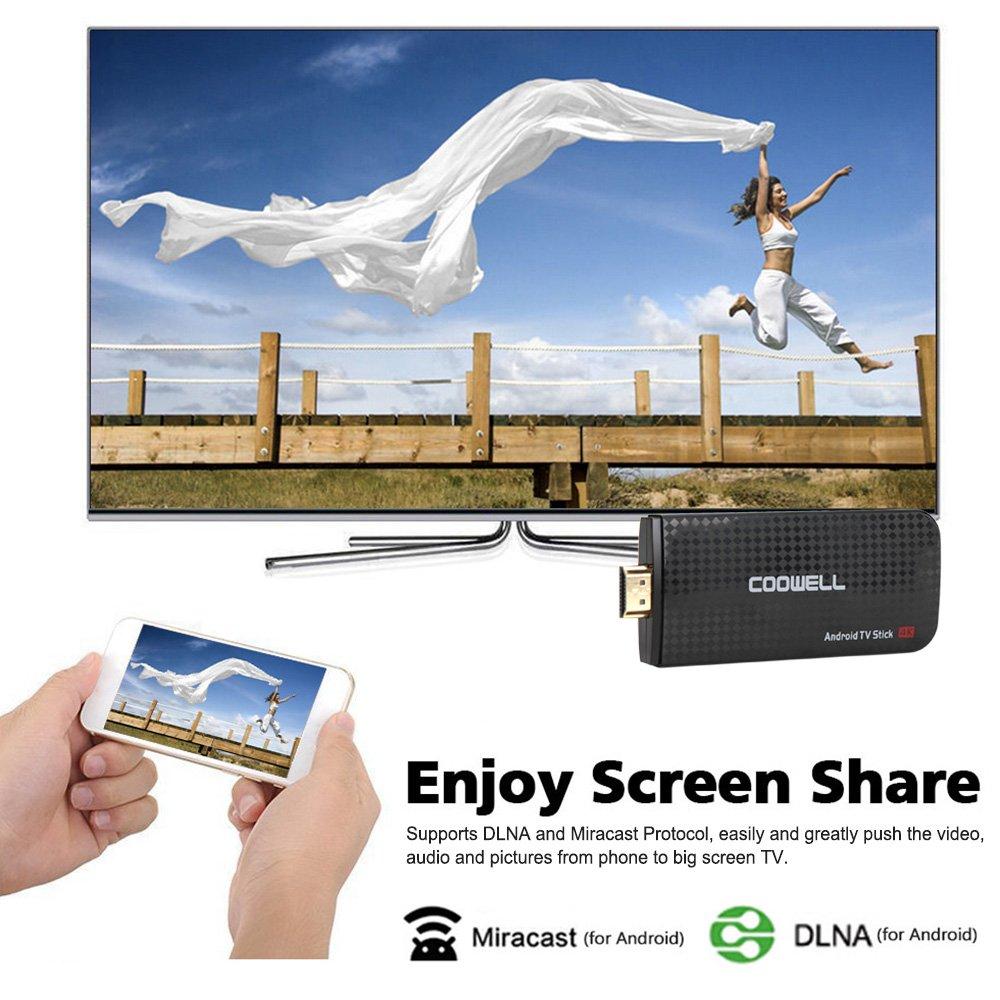 Docooler TV Dongle Android 6.0 TV Dongle Amlogic S905X Quad-Core 1G / 8G UHD 4K Mini PC DLNA VP9 H.265 WiFi HD Media Player US Plug by Docooler (Image #3)