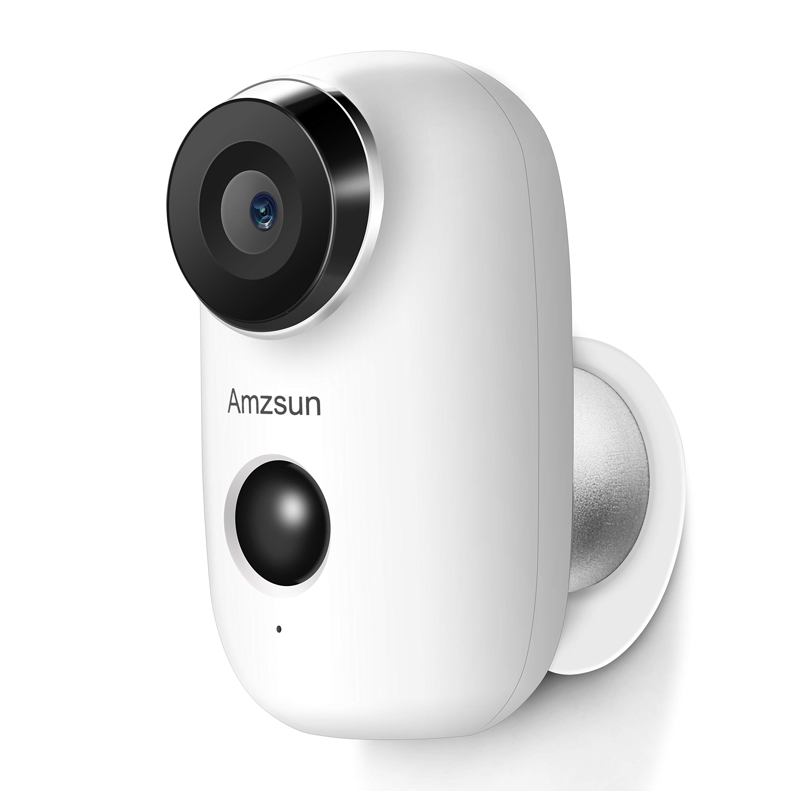 Wireless Battery Powered Camera with Rechargeable HD 1080P, Motion Detection, Two-way Audio Talk, Night Vision, IP65 Waterproof WIFI Outdoor Camera Video Home Security Camera System by Amzsun