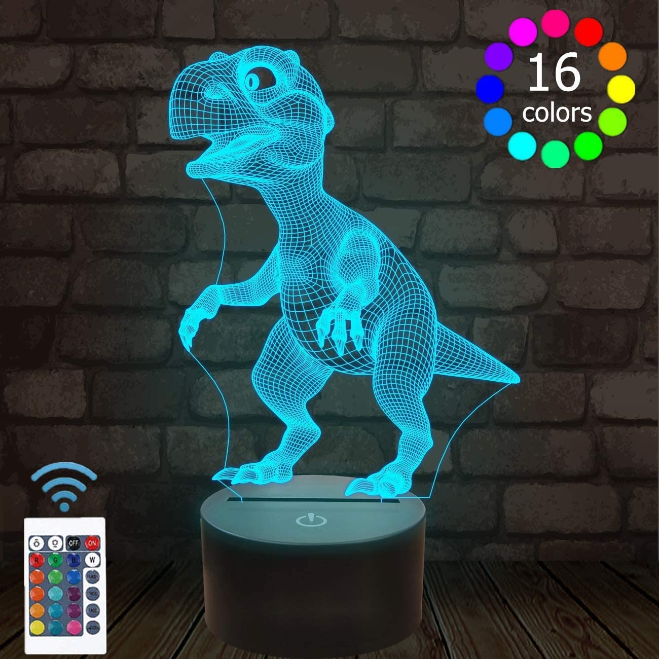 Winzwon 3D night light 16 Models Touch Control Optique LED Illusion Lamp Smart Home Night Lightst avec USB c/âble de charge pour Home Decor Cheval enfants 3D Lampes Lllusions Optiques