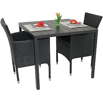Amazon De 3tlg Gartengarnitur Balkonmobel Set Polywood Aluminium