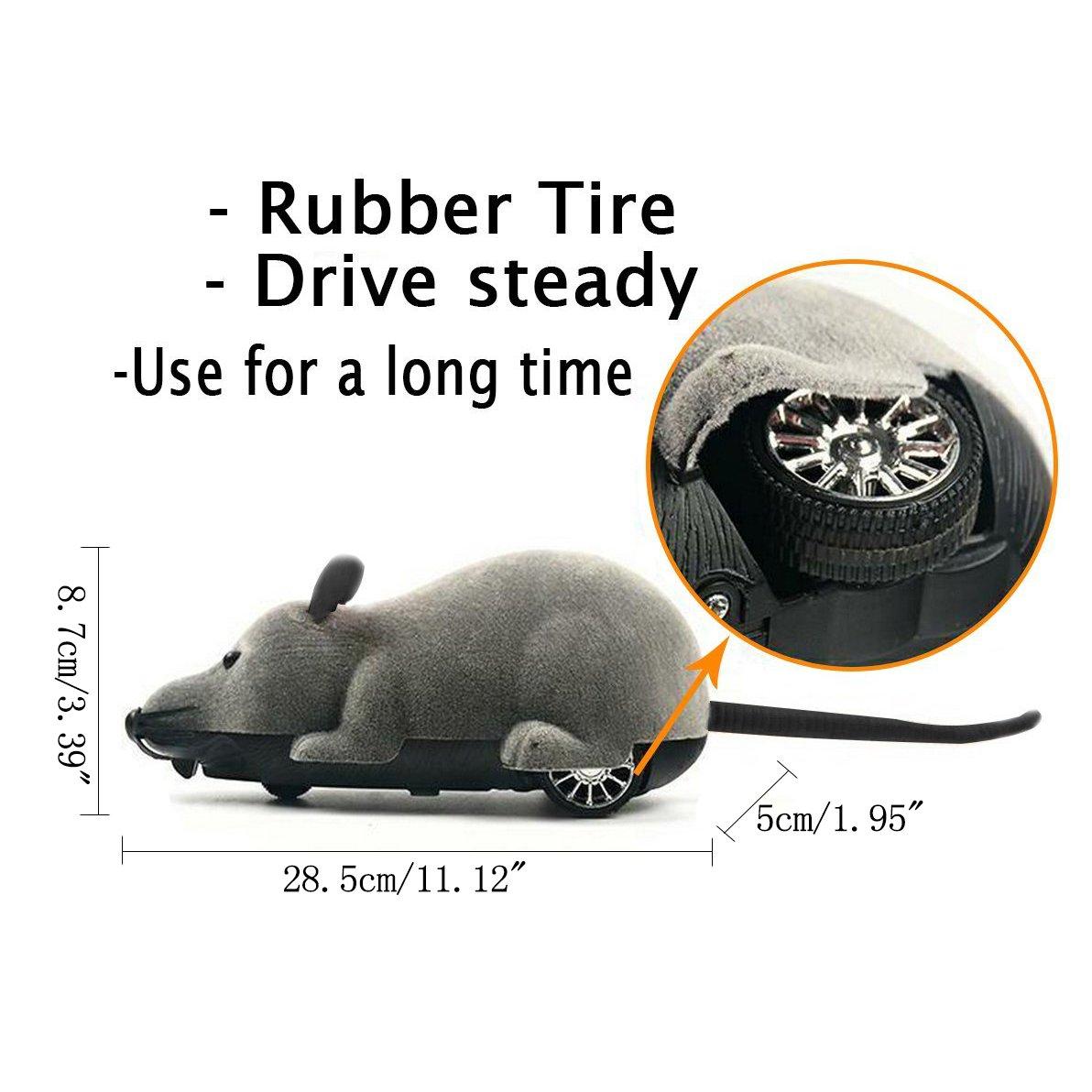 Juguete para ratas, Scoolr RC divertido mando a distancia inalámbrico ratón ratón, juguete para mascotas para gatos, perros, mascotas y niños: Amazon.es: ...