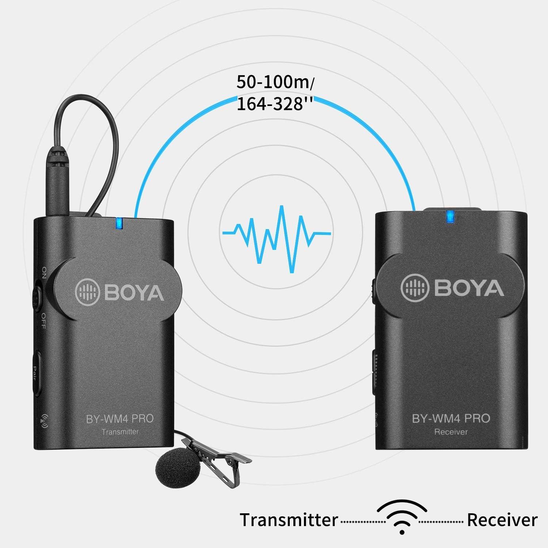 Boya By Wm4 Pro K1 2 4 G Kabelloses Mikrofonsystem Mit Elektronik
