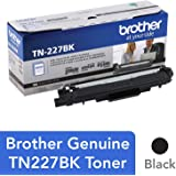 Brother Genuine TN227, TN227BK, High Yield Toner Cartridge,  Replacement Black Toner, Page Yield Up to 3,000 Pages, TN227BK, Amazon Dash Available