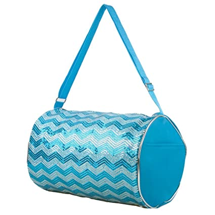 68c586329b1b Image Unavailable. Image not available for. Color  1 Perfect Choice Kid s  Girls Dance Chevron Wave Sequin Duffle Bag Gymnastics Cheer ...