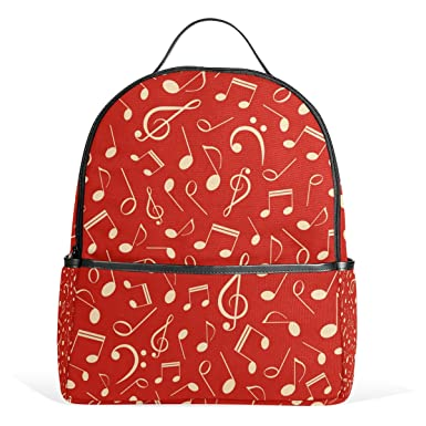 Image Unavailable. Image not available for. Color  My Little Nest Music  Notes School Bag Lightweight Travel Shoulder Backpack ... be748056d27eb