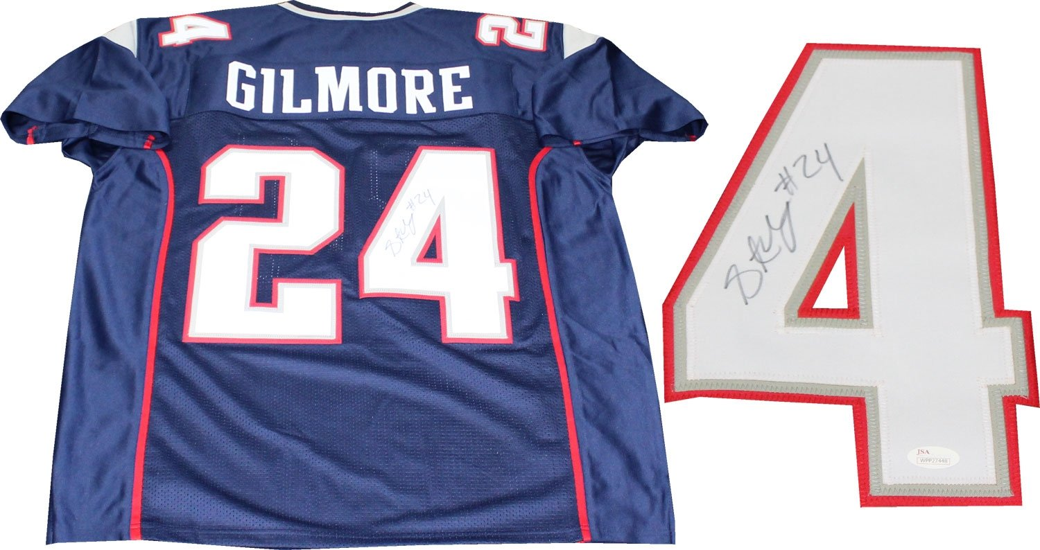 900cde51a Stephon Gilmore Autographed New England Patriots Jersey (JSA) at Amazon s  Sports Collectibles Store