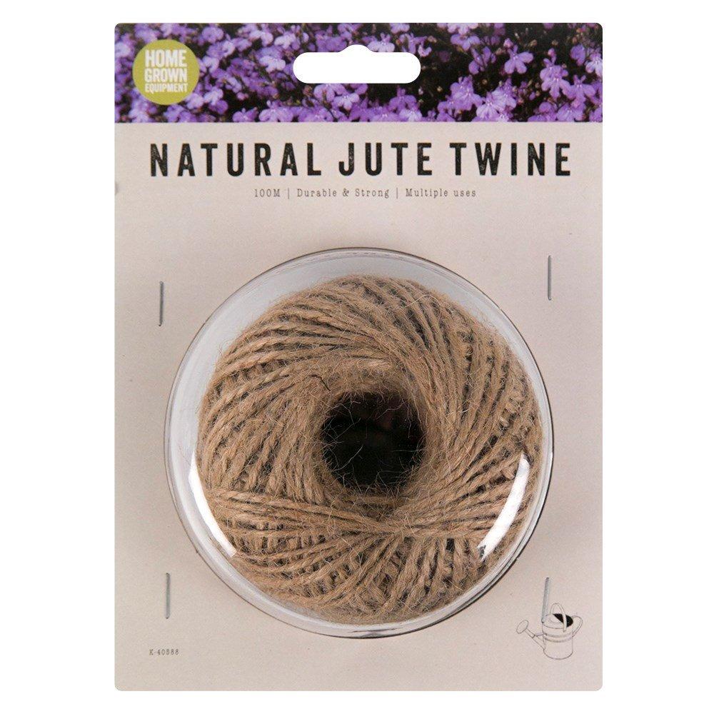 Yute Natural cordel –  100 m (328 pies) para jardinerí a, floristerí a, manualidades, artes y manualidades floristería Home Grown