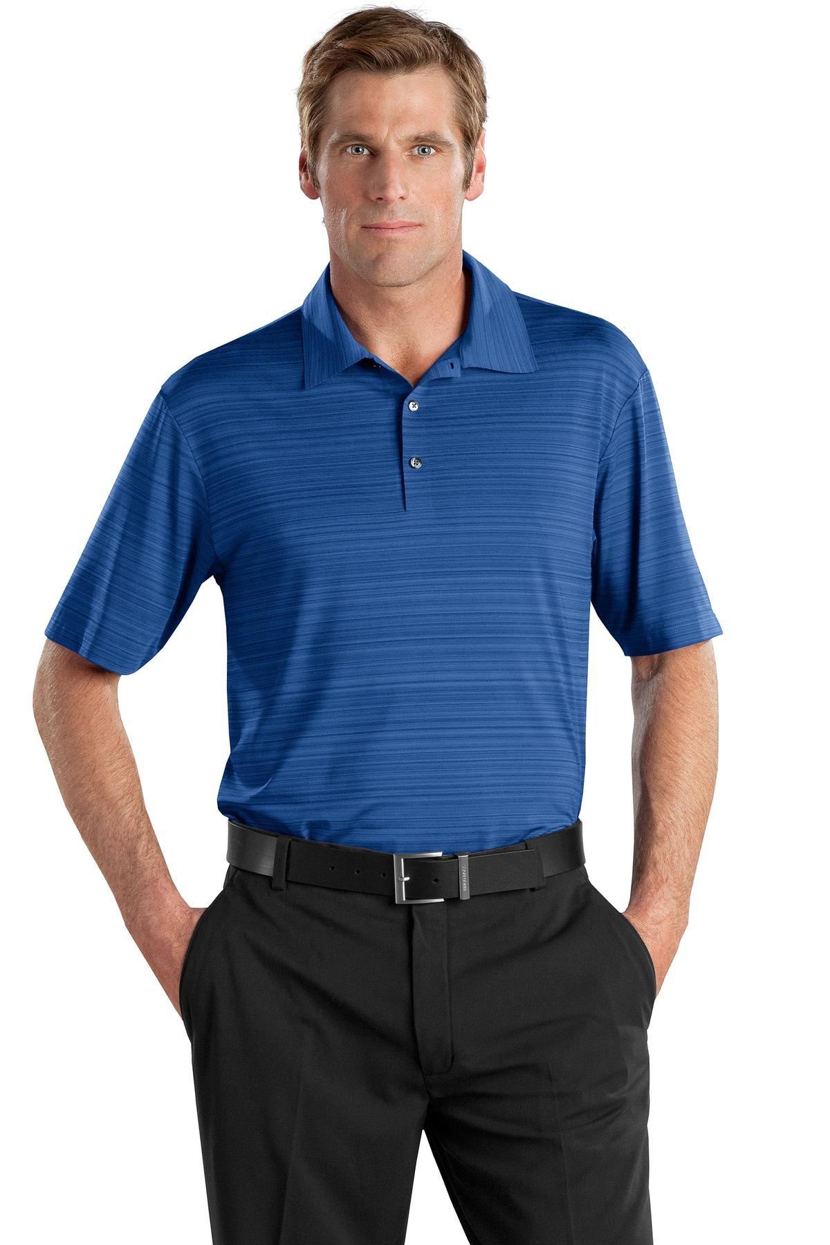 Nike Golf - Elite Series Dri-FIT Heather Fine Line Bonded Polo, Deep Royal, XXXX-Large