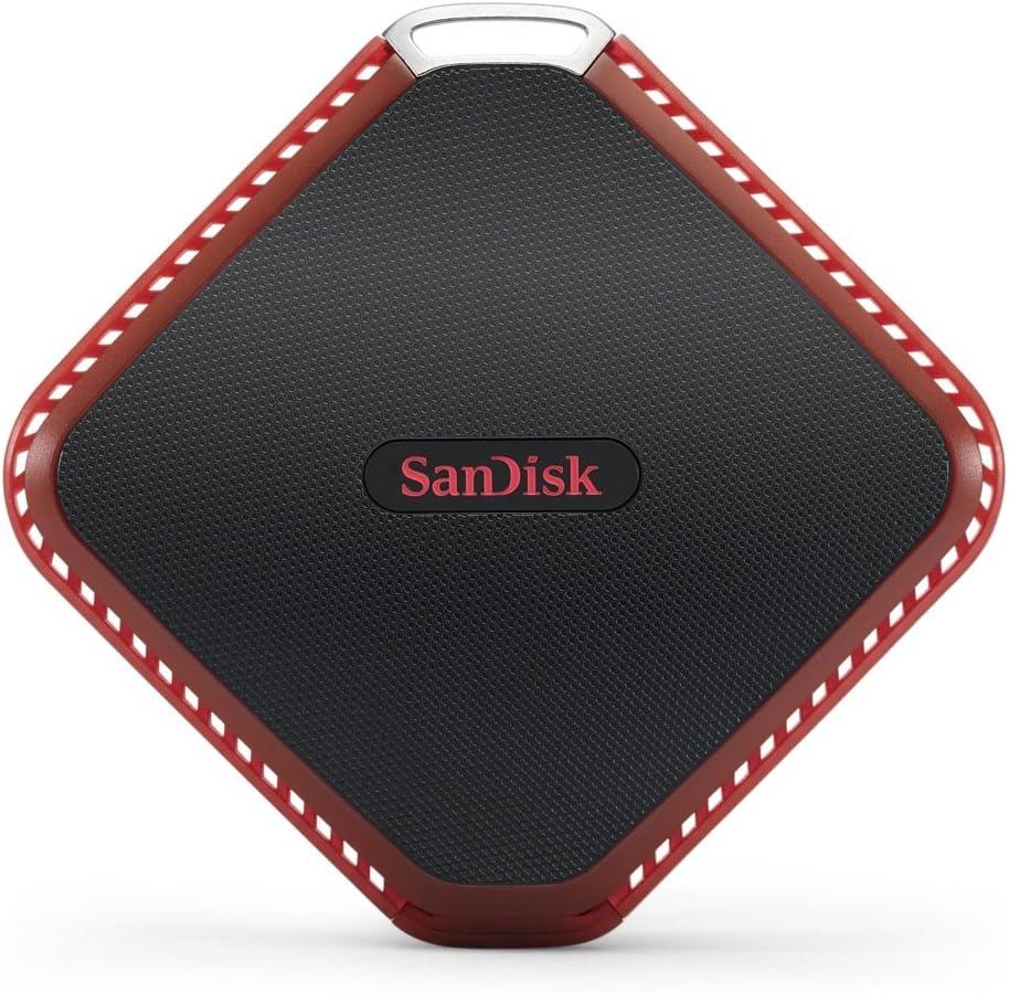 Sandisk Extreme 510 480 GB Negro, Rojo - Unidades externas de Estado sólido (480 GB, USB, 3.0 (3.1 Gen 1), 430 MB/s, Protección Mediante contraseña, Negro, Rojo)