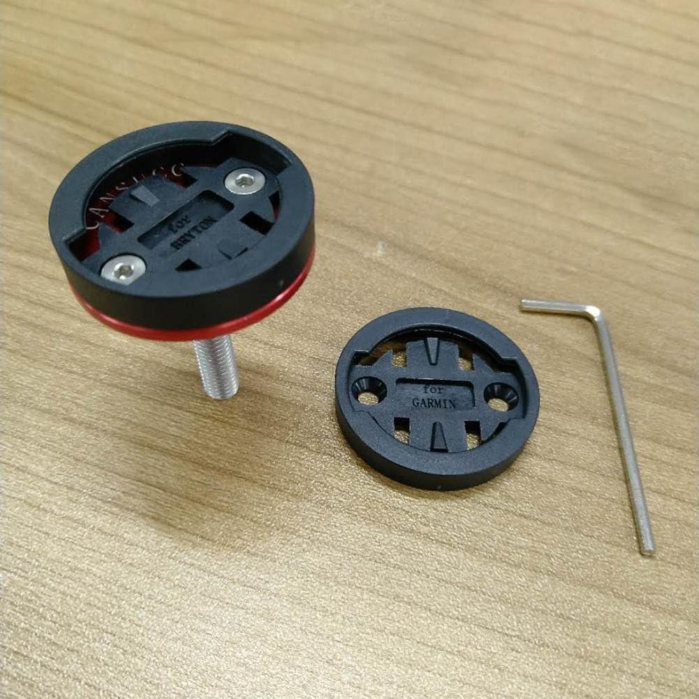 /Anti de Shake GPS Ciclocomputador Manillar Soporte bivoltaje Top Cap Plana para Garmin Edge Huang Dog-shop Soporte de Bicicleta/