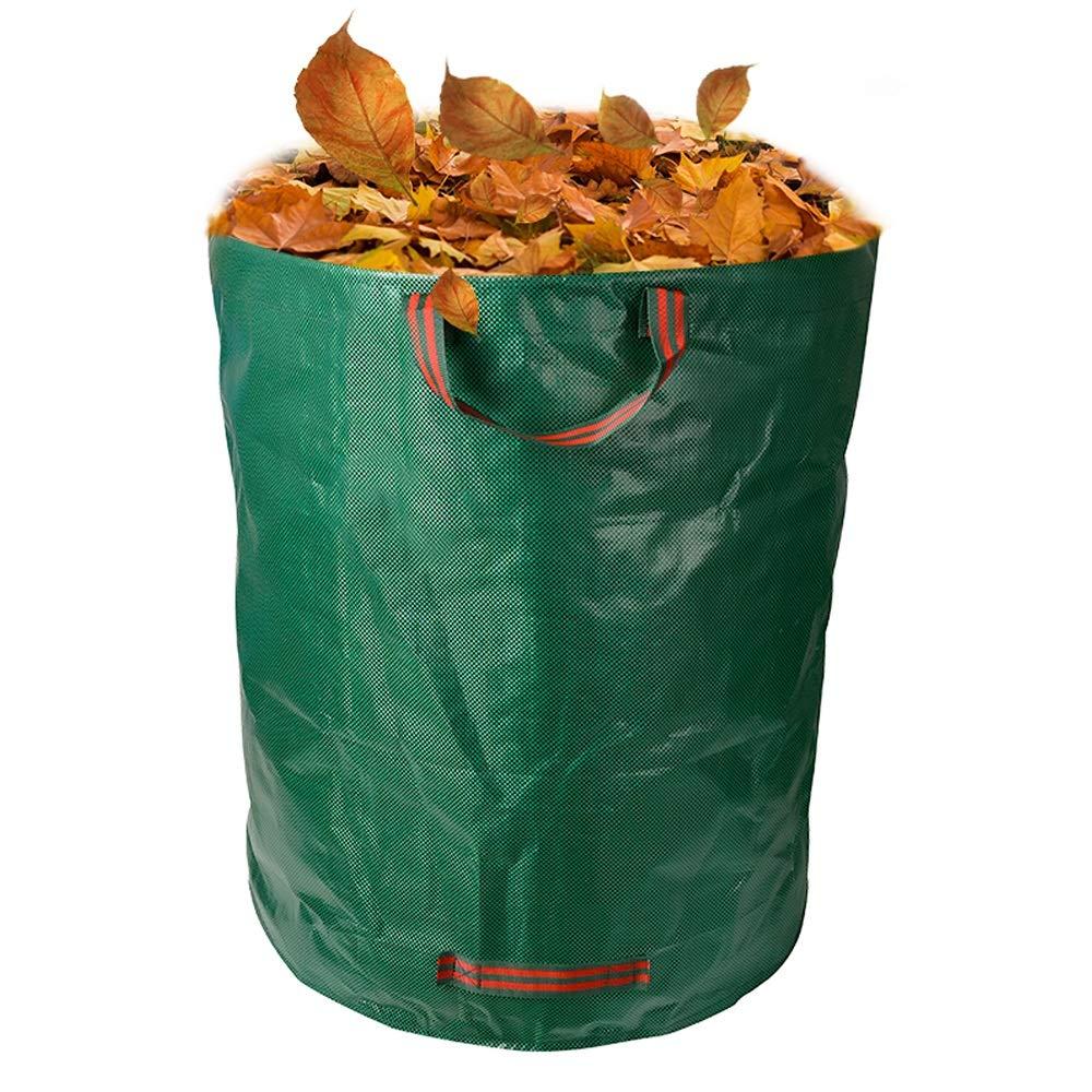 Cherlvy Garden Bag Basket Ring Green Trash Bag Delivery Transfer Bag 67CM76CM
