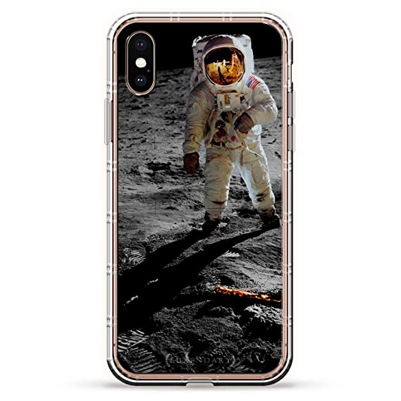 7518062a ASTRONAUT THE MOON | Luxendary Air Series Clear Silicone Case with 3D  printed design and Air