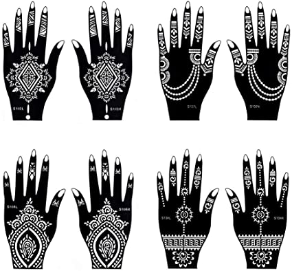 Tatuajes temporales Henna tatuaje indio pintura tatuaje plantilla ...