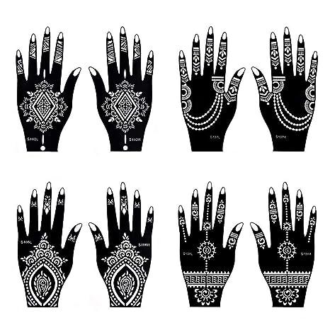 Tatuajes Temporales Henna Tatuaje Indio Pintura Tatuaje Plantilla