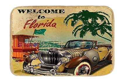Cama Perro Trotamundos Playa de Florida impreso 40x60 cm