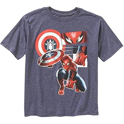 c96fbf61 Amazon.com: Marvel Boys Civil War Captain America Spiderman Shield ...
