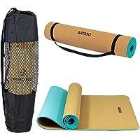 ARIMO Tapete de Cortiça e TPE Yoga Mat Antiderrapante Ecológico Biodegradável Todos Os Tipos de Yoga/Pilates 181 x 61 cm…