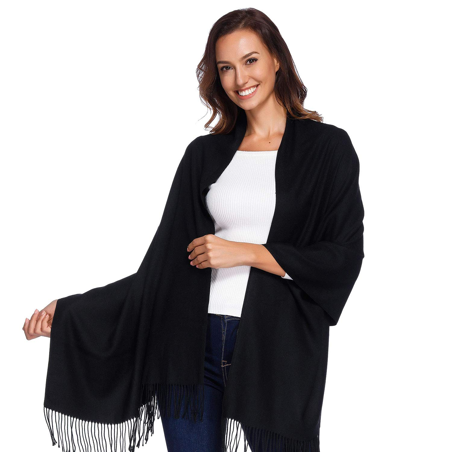 9d75f06df48 HIGH QUALITY MATERIAL –This Pure Color women s scarf is made with 10%  Cashmere + 90% Polyester