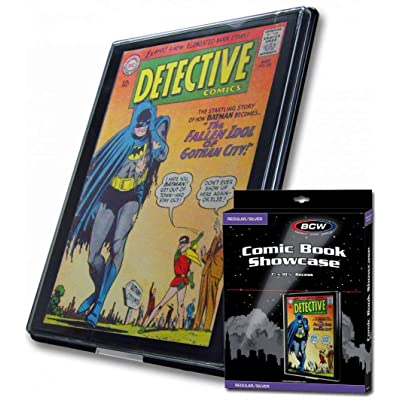BCW Silver Age Comic Book Showcase Display Case Holder New: Toys & Games