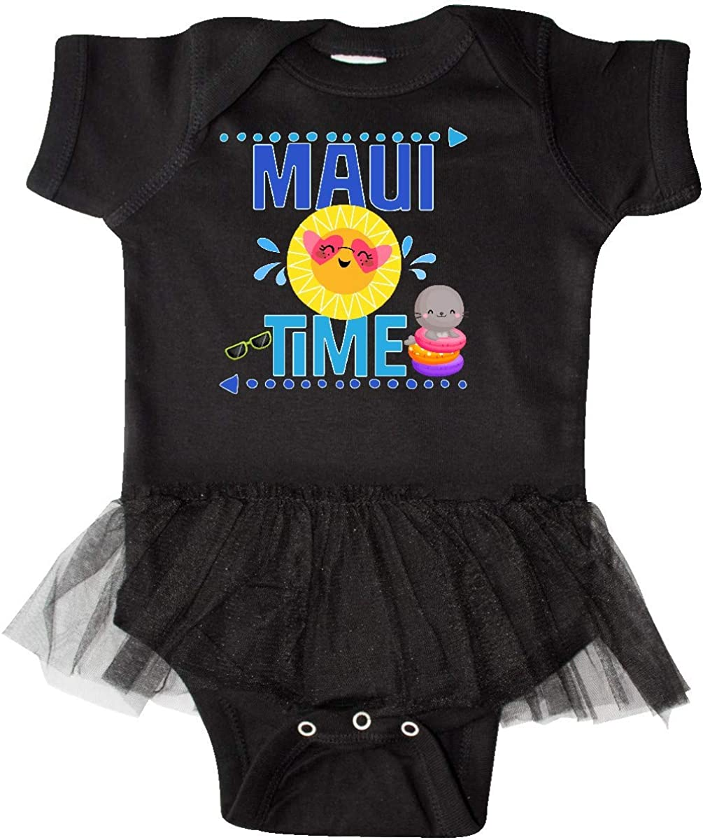 inktastic Maui Time Hawaii Vacation Infant Tutu Bodysuit