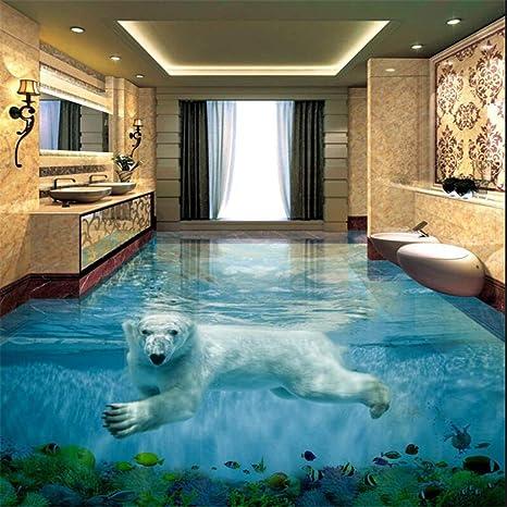 Eisbar Unterwasserwelt 3d Stereo Badezimmer Boden Grosse
