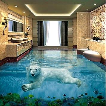 Häufig Eisbär Unterwasserwelt 3D Stereo Badezimmer Boden große OY41