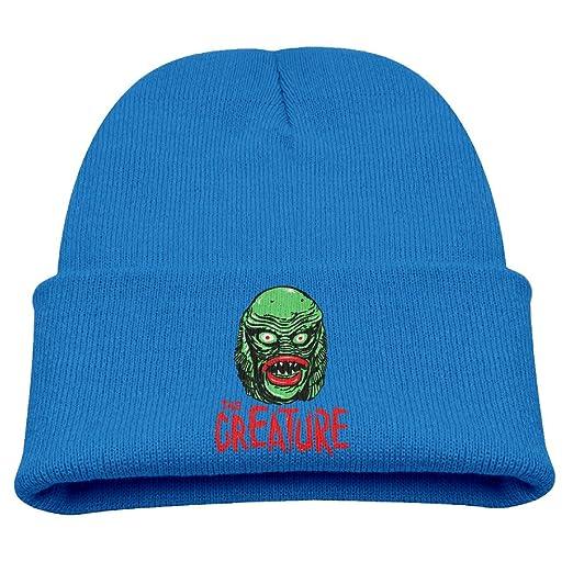 9d2e8ebefab Amazon.com  CREATURE From The BLACK LAGOON Warm Winter Hat Knit Beanie  Skull Cap Cuff Beanie Hat Winter Hats Boys  Clothing