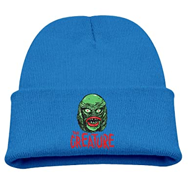 cb541b722a4 Amazon.com  CREATURE From The BLACK LAGOON Warm Winter Hat Knit Beanie  Skull Cap Cuff Beanie Hat Winter Hats Boys  Clothing