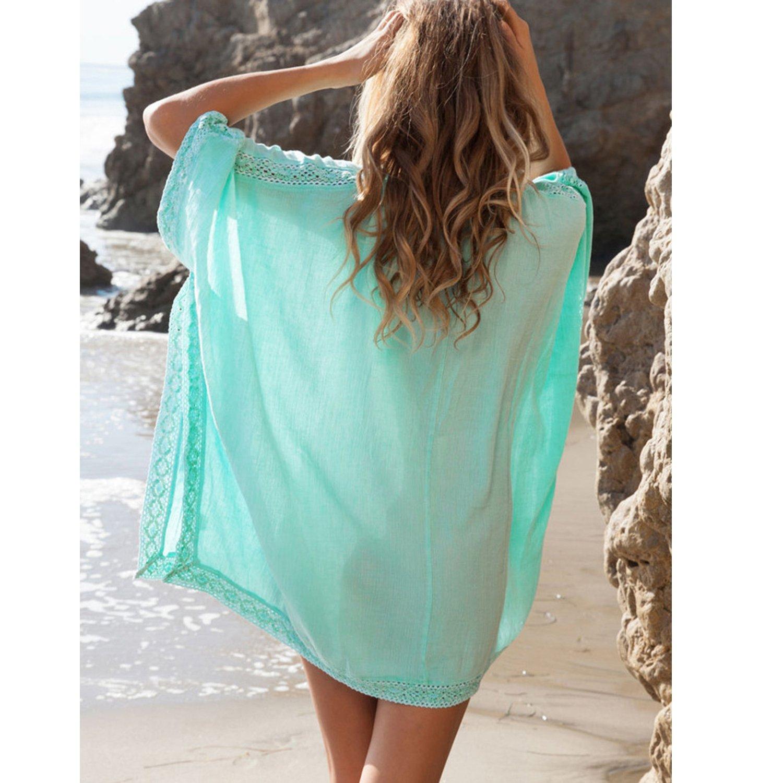 51a6d7bc6551 MuRstido Pareo Playa Mujer Vestido Algodón Bikini Cover Up Camisola ...