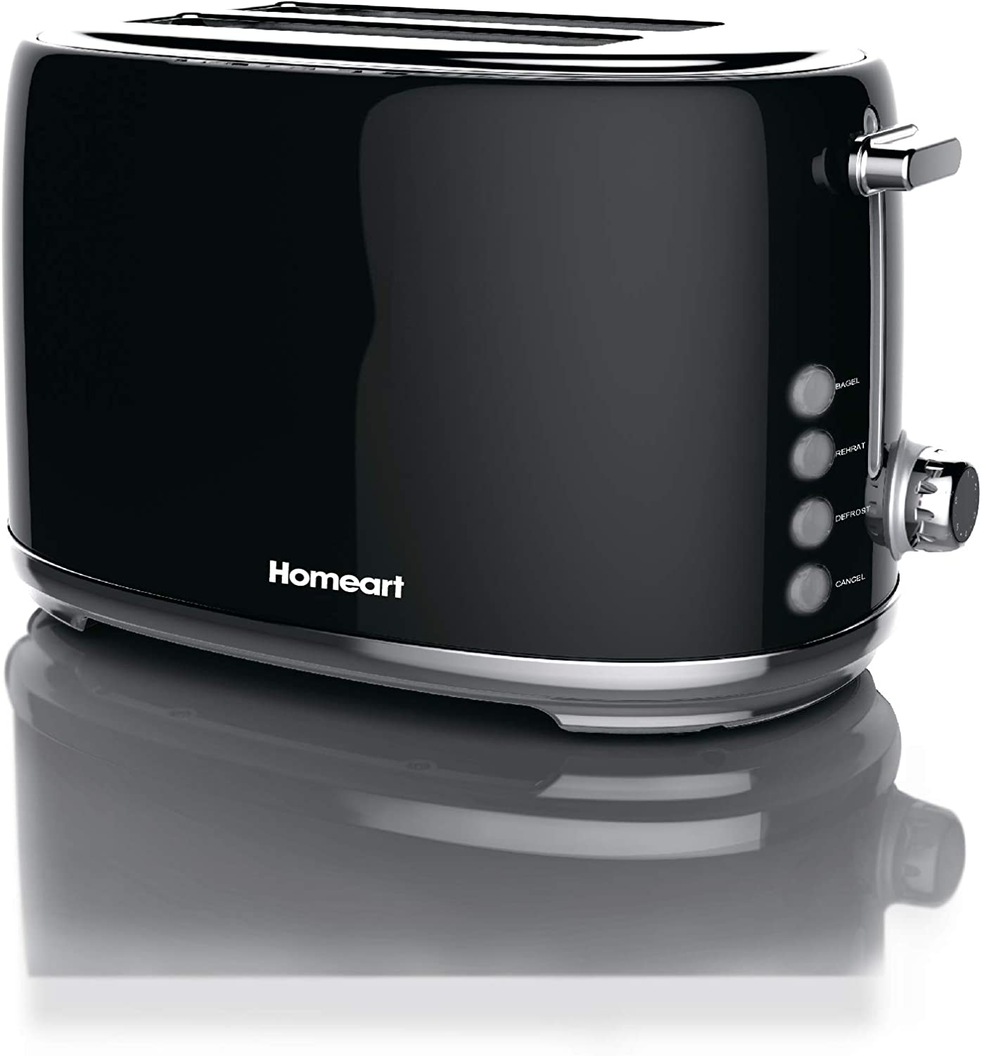 Homeart Artisan Toaster, 2 Slice, Black
