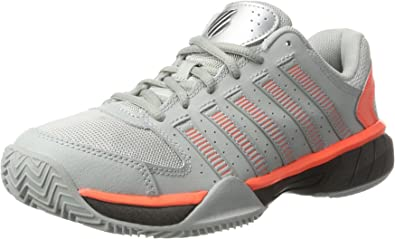 K-Swiss Performance Express LTR, Zapatillas de Tenis para Hombre, Gris (Highrise/Black/Neon Blaze), 46 EU: Amazon.es: Zapatos y complementos