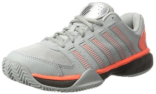 K-Swiss Performance Express LTR, Zapatillas de Tenis para Hombre, Gris (Highrise/Black/Neon Blaze) 44.5 EU: Amazon.es: Zapatos y complementos