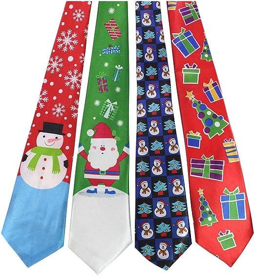 Momorain Imprimir Corbata de Navidad Corbatas de Seda de Moda para ...